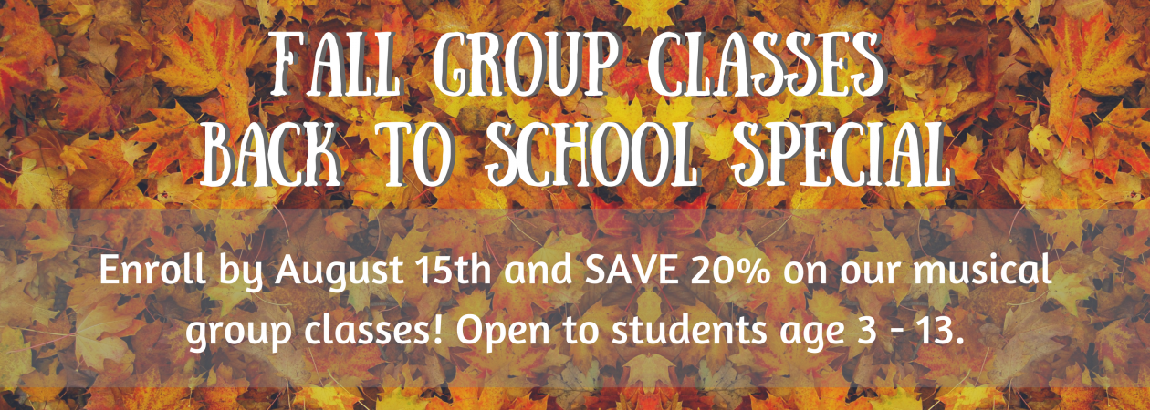 FALL GROUP CLASSES BACK TO SCHOOL SPECIAL